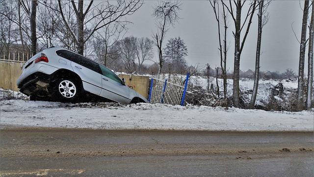 nehoda na sněhu