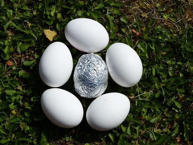 zabelené vejce